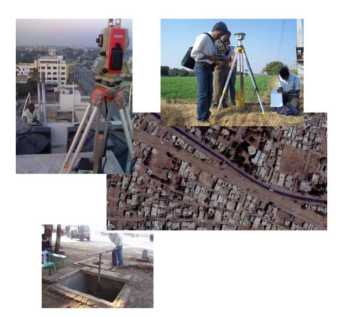 Detailed Survey and preparation of GIS database of Transmission mains and distribution network of water pipelines of Latur city in Maharashtra.