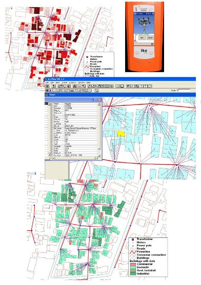 GIS based network mapping and consumer indexing for power distribution system